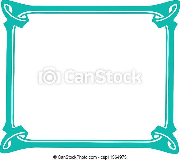 décoratif, cadre - csp11364973