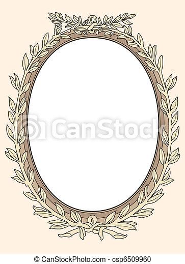 décoratif, cadre, photo, vect, vendange - csp6509960