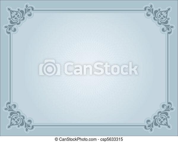 décoratif, certificat - csp5633315