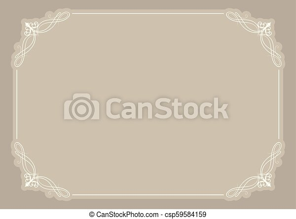 décoratif, certificat, fond, vide - csp59584159