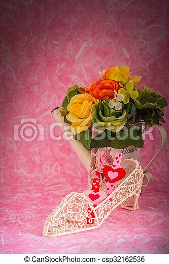 décoratif, formes, chaussures, arrière-plan. - csp32162536