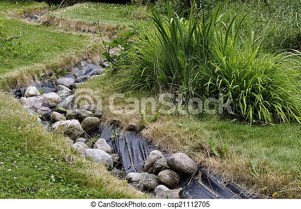 d coratif jardin ruisseau am nag artificiel tang d coratif fait jardin ruisseau. Black Bedroom Furniture Sets. Home Design Ideas