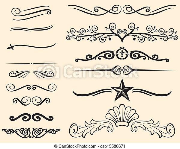décoratif, lignes - csp15580671