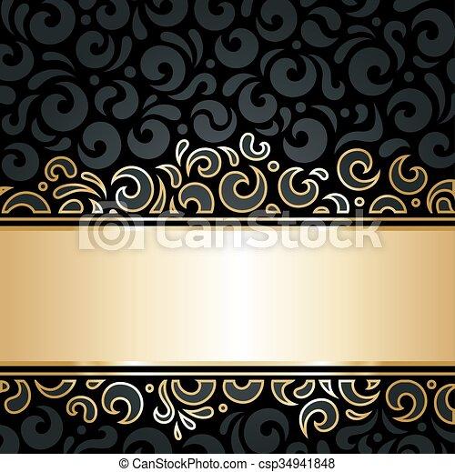 Decoratif Papier Peint Noir Or Decoratif Or Modele
