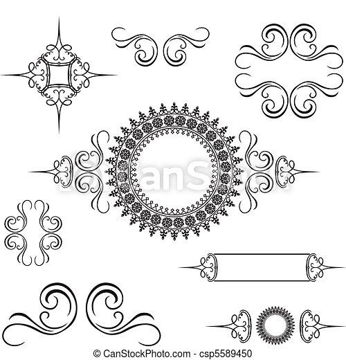 décoratif, série tourbillon, ornement, vecteur - csp5589450