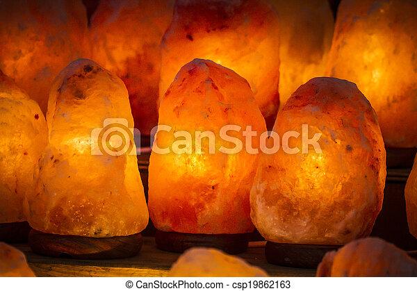 décoratif, sel, énergique, lampe, himalaya, sel - csp19862163