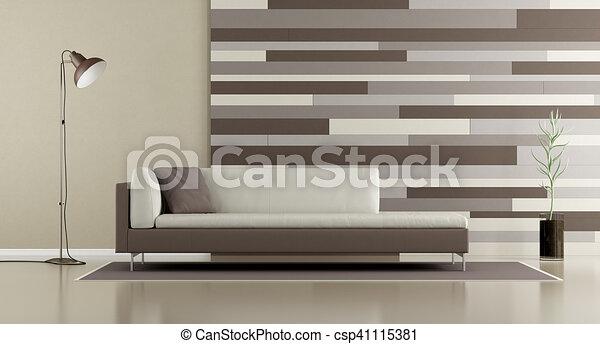 décoratif, sofa, salon, contemporain, panneau