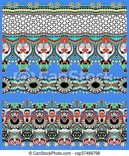 décoratif, style, géométrie, vendange, seamless, modèle, ethnique, backg - csp37489798