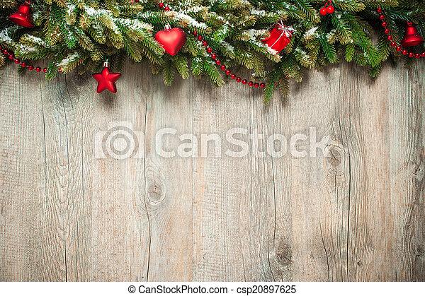 décoration, bois, sur, noël, fond - csp20897625