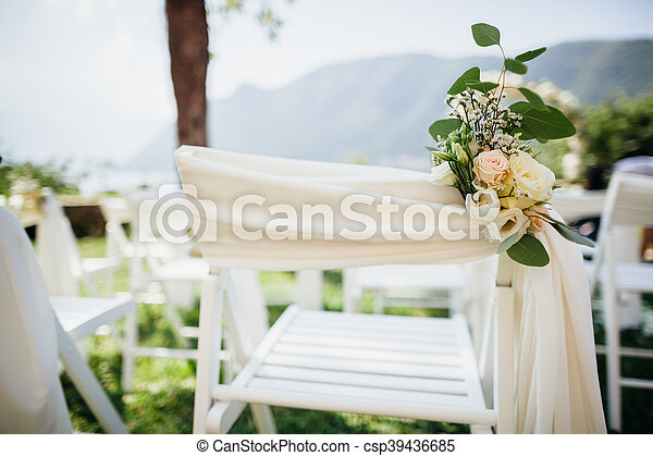 Decoration Chaise Fleurs Couverture Mariage