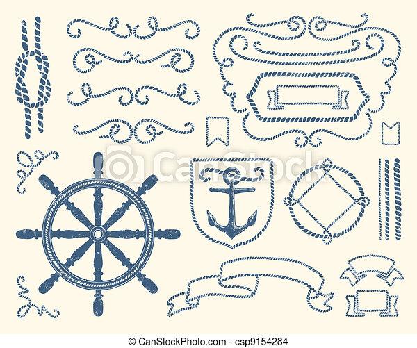 décoration, ensemble, nautique - csp9154284