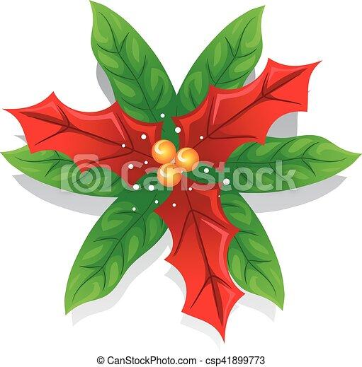 Image Fleur Noel.Decoration Fleur Noel Poinsettia