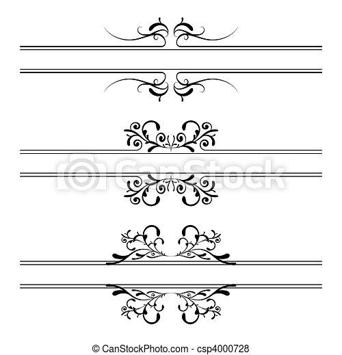 décoration florale, bannière - csp4000728
