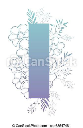 décoration florale, lettre - csp68547481