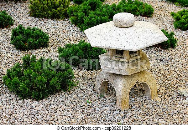décoration, jardin japonais