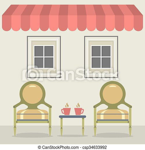 décoration, vendange, design. - csp34633992