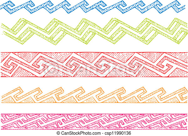 décorations, grec, ensemble - csp11990136