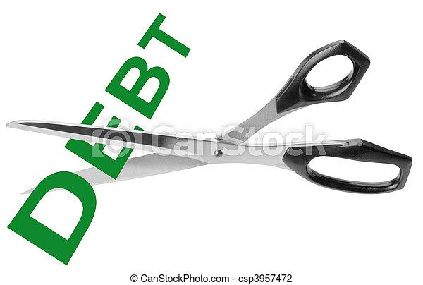 découpage, dette - csp3957472