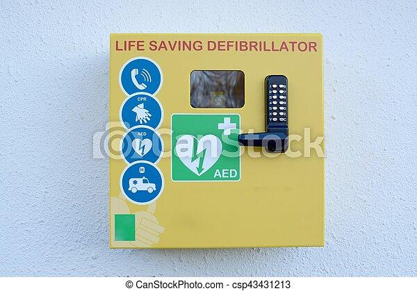 défibrillateur, externe, automatisé - csp43431213