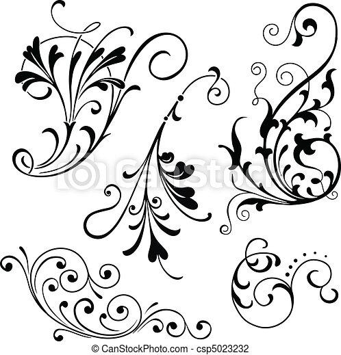 défilements, floral - csp5023232