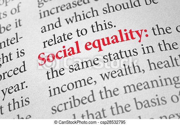 définition, terme, égalité, dictionnaire, social - csp28532795