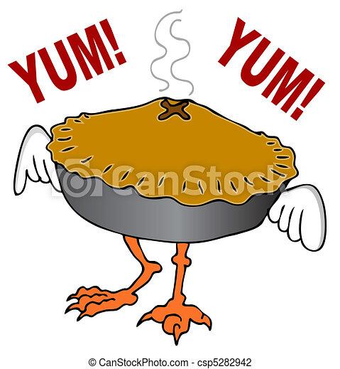 dégonfler tarte pot - csp5282942