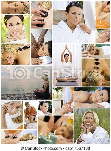 délassant, style de vie, femmes, sain, spa, &, masage - csp17567138