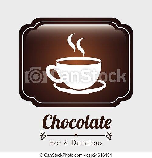 délicieux, chocolat - csp24616454