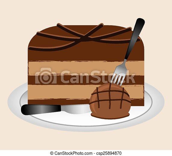 délicieux, chocolat - csp25894870