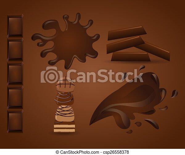 délicieux, chocolat - csp26558378