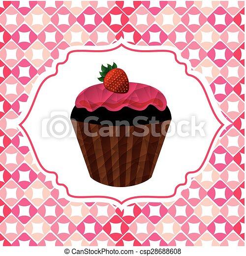 délicieux, petit gâteau - csp28688608