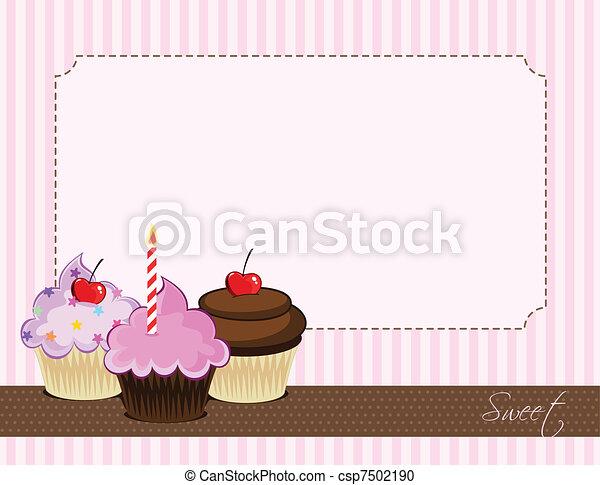 délicieux, petit gâteau - csp7502190