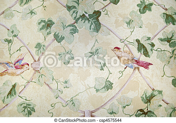 démodé, papier peint - csp4575544