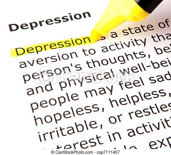dépression - csp7111407