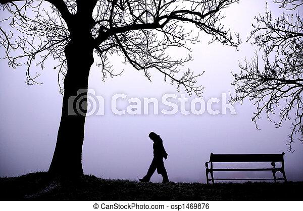 déprimé, brouillard - csp1469876