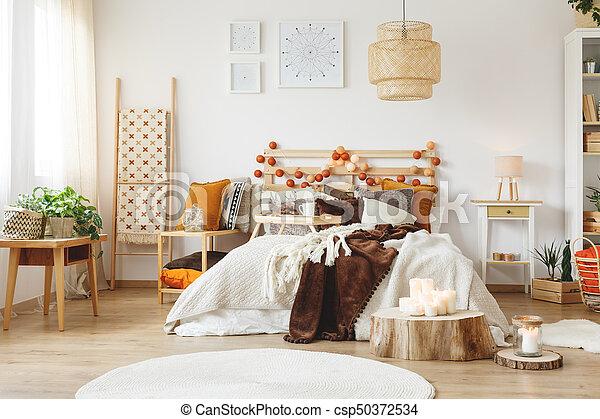 Désordre, lit, chambre à coucher. King-size, lit, chaud,... photos ...