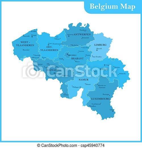 Carte Belgique Eps.Detaille Carte Belgique