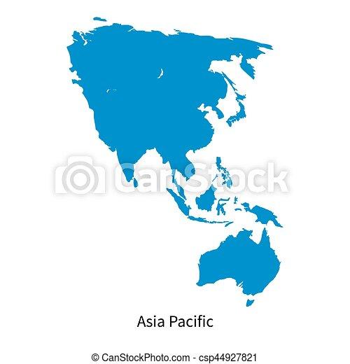 Carte Region Asie.Detaille Carte Region Asie Vecteur Pacifique