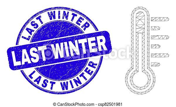 détresse, bleu, cachet, hiver, toile, timbre, dernier, température, carcasse - csp82501981