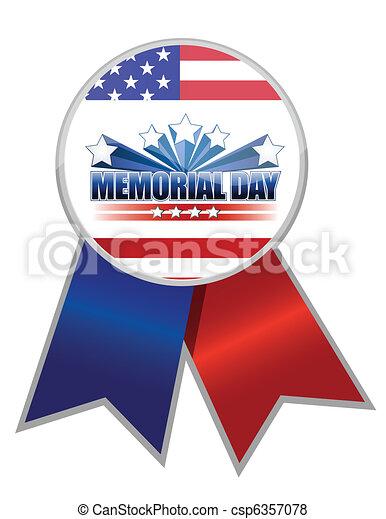 La cinta del día Memorial - csp6357078