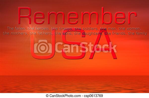 Día Memorial USA - csp0613769