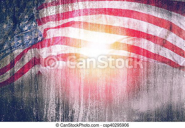 La bandera de EE.UU. grunge fondo, para el 4 de julio, día de la memoria o el día de los veteranos. - csp40295906