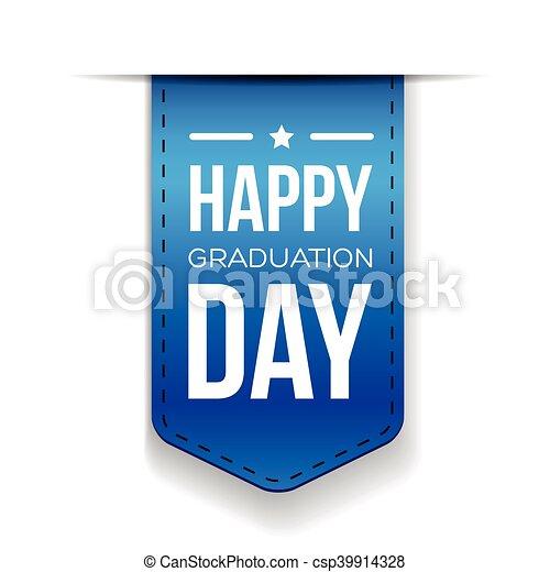Feliz lazo del día de graduación - csp39914328