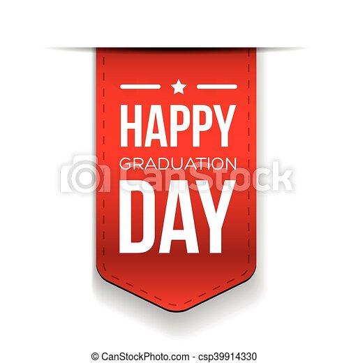 Feliz lazo del día de graduación - csp39914330