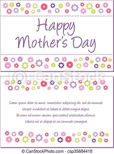 La tarjeta de felicitación del día de la madre - csp35684418