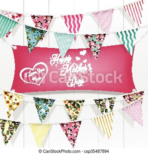 La tarjeta de felicitación del día de la madre - csp35487894