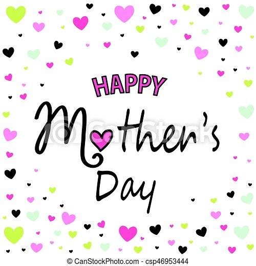 La tarjeta de felicitación del día de la madre - csp46953444