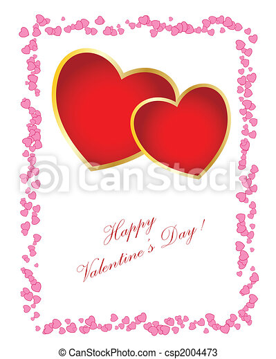 Simple tarjeta del día de San Valentín. Puedes cambiar el texto para tu diseño. - csp2004473