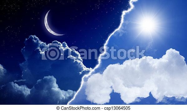 día, noche - csp13064505
