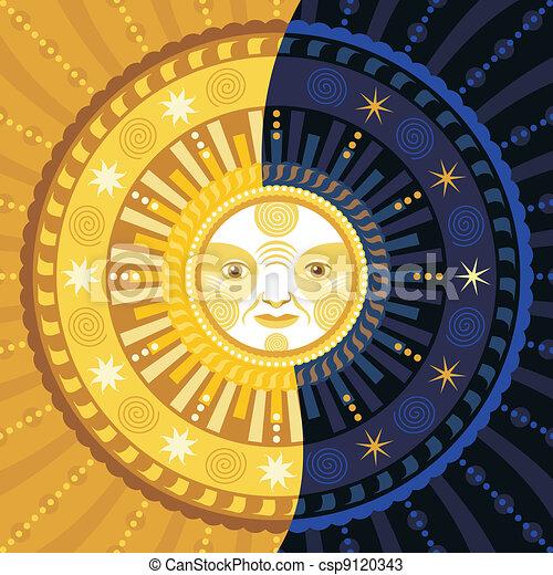 Día y noche - csp9120343